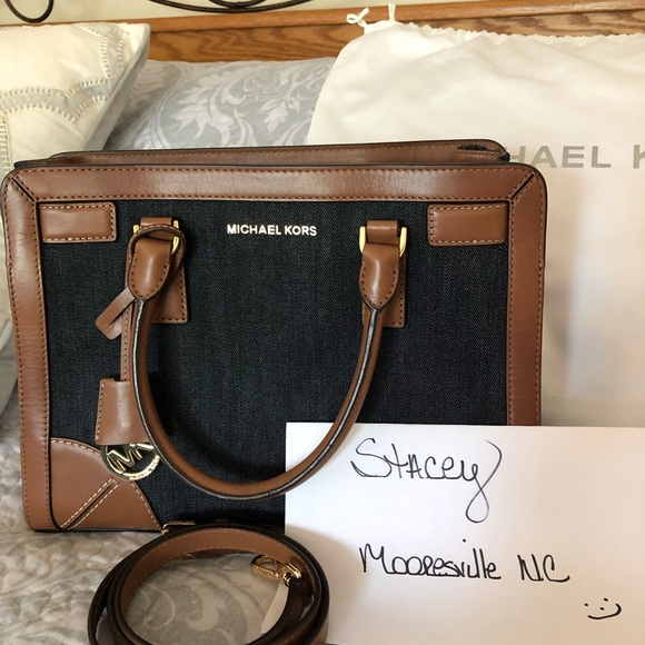 Michael Kors Handbags - MK denim satchel